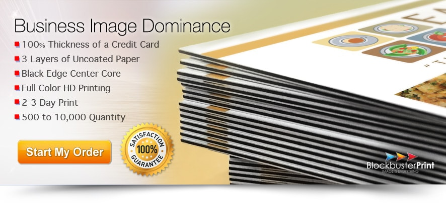 black edge business cards - 32pt business card printing