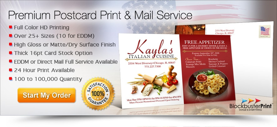 Cheap Postcards Printing Service