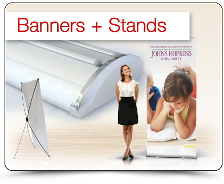 custom display banner stands