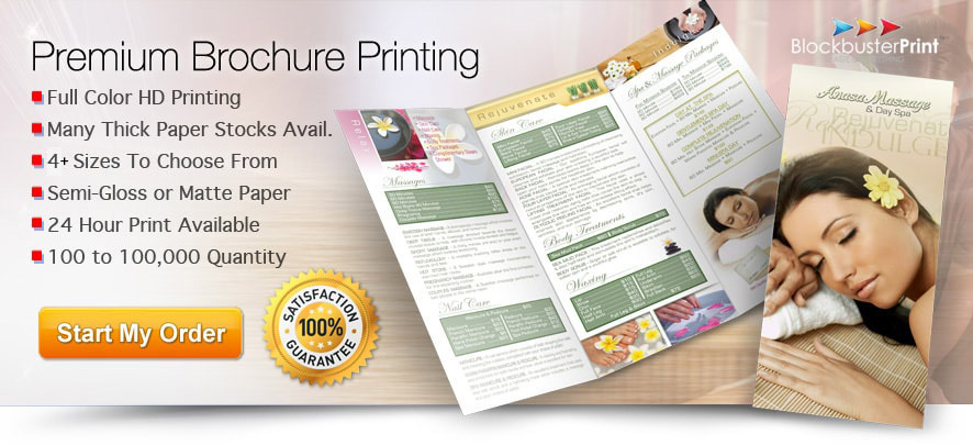 Folded Brochure Printing Services Online - Print Brochures Cheap