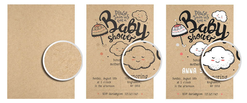 brown kraft business cards with white ink - Kraft Paper Business Cards