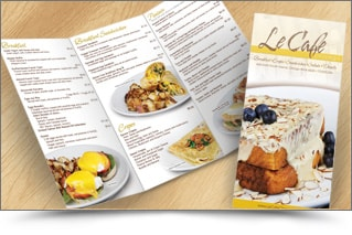 cheap color takeout menu printing