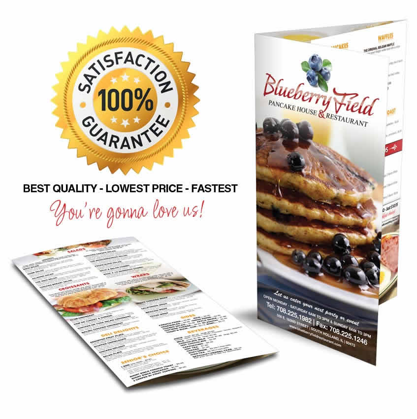 color take-out menu printing service online cheap
