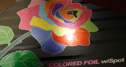 colored foil stamped printing