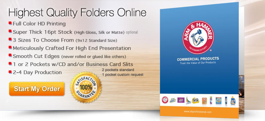 high end folder printing service online