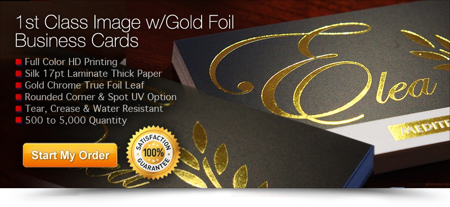 gold foil stamped business cards - Foil Stamped Business Cards