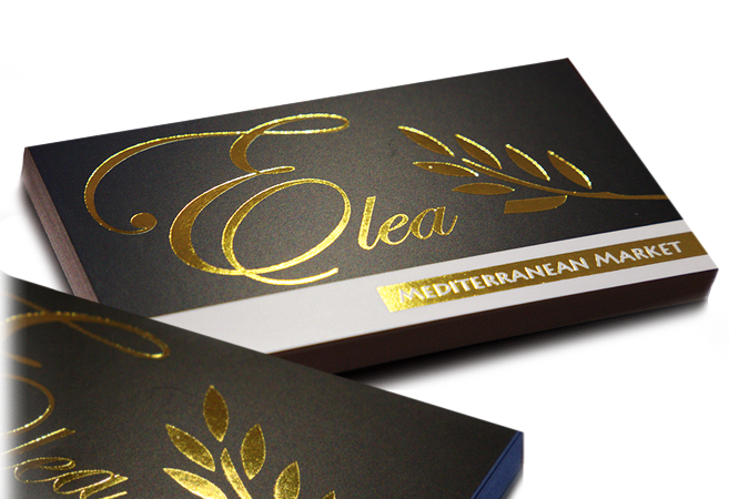 Foil Stamped Business Cards Printing line Chrome Foil