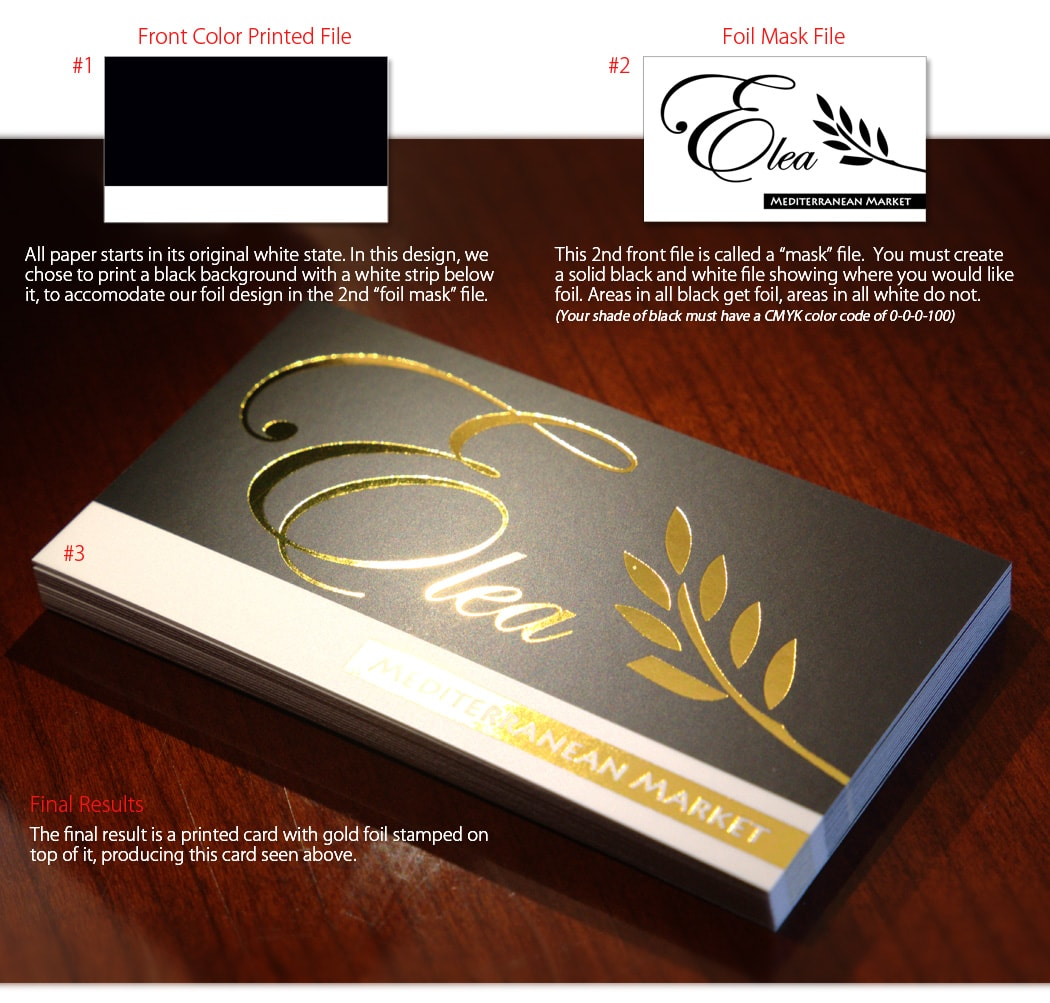 how to setup gold foil mask files for business cards - Foil Stamped Business Cards