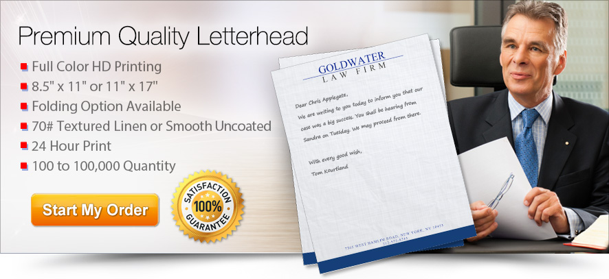 print professional letterheads online