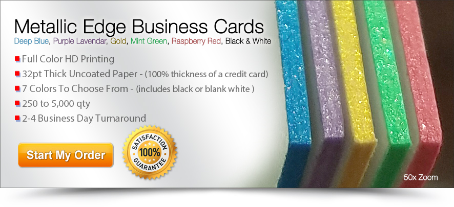 Cheap business cards online print affordable business cards metallic edge business cards colourmoves