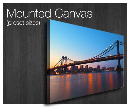 order custom framed mounted canvas printing service