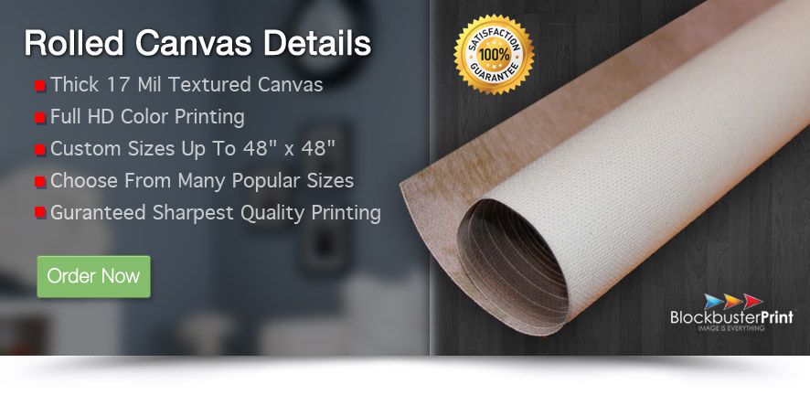 unframed rolled canvas printing