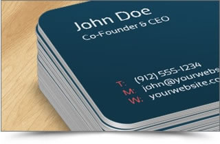 foil stamped business cards rounded corner business cards