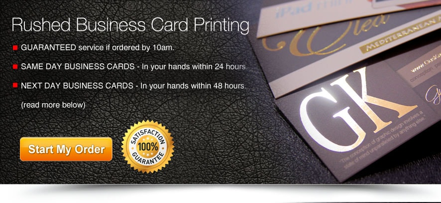 24 Hour Rushed Next Day Business Cards Printing Overnight Business